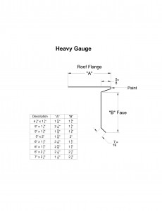 Heavy Gauge Eave Drip Shop Drawing