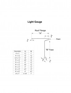 Light Gauge Eave Drip Shop Drawing