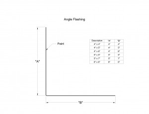 Angle Flashing Shop Drawing
