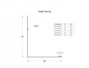 Angle Flashing with Hem Shop Drawing
